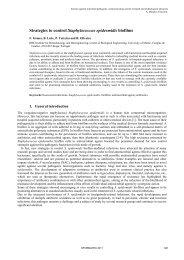 Strategies to control Staphylococcus epidermidis biofilms
