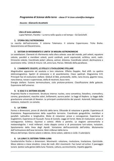 SCIENZE NATURALI - Accattatis.Net