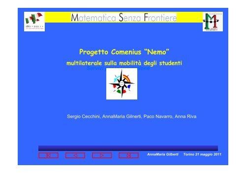 Progetto Comenius - Matematica senza frontiere
