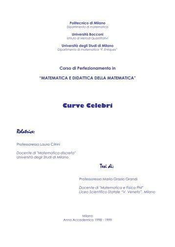 Curve celebri - Liceo Scientifico Vittorio Veneto