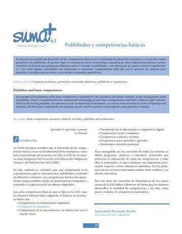 Polilóbulos y competencias básicas - SUMA Revistas de matemáticas