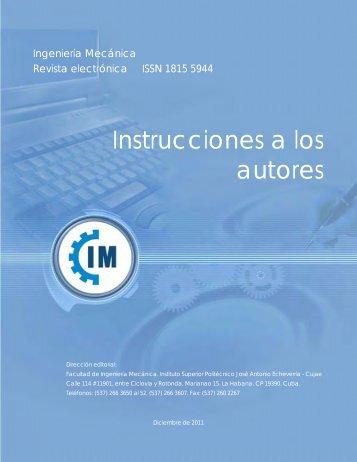 Instrucciones a los autores - Revistas Científicas Cujae