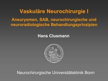 Vaskuläre Neurochirurgie I