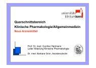 Querschnittsbereich Klinische Pharmakologie/Allgemeinmedizin
