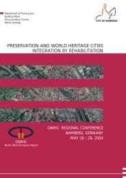 preservation and world heritage cities integration by rehabilitation