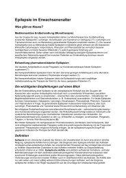 Epilepsie im Erwachsenenalter - Universitätsklinikum Bonn