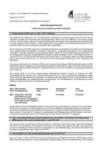 DRG_Entgelttarif_UKB_01032011 020311 - Universitätsklinikum Bonn