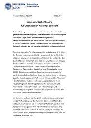 Neue genetische Ursache für Glasknochen ... - Uniklinik Köln