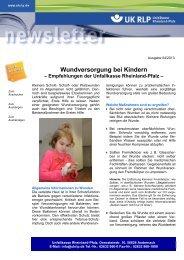 Newsletter 04/2013 - Unfallkasse Rheinland-Pfalz