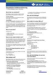 Gesetzliche Unfallversicherung für Beschäftigte privater Haushalte