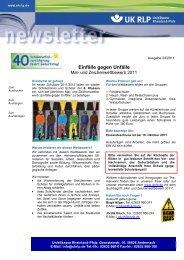 Newsletter 24/2011 - Unfallkasse Rheinland-Pfalz