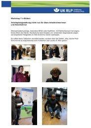 Workshop 1 in Bildern Arbeitsplatzgestaltung (nicht nur) für ältere ...