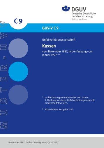 GUV-V C9 - Deutsche Gesetzliche Unfallversicherung
