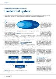 Betriebliches Gesundheitsmanagement: Handeln mit System ...