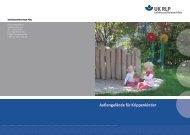 Außengelände für Krippenkinder - Unfallkasse Rheinland-Pfalz
