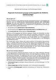 Regionale Hochwasservorsorge im Einzugsgebiet der Weißeritz ...