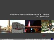 Revitalisation of the Weisseritz River in Dresden Iris Gleichmann