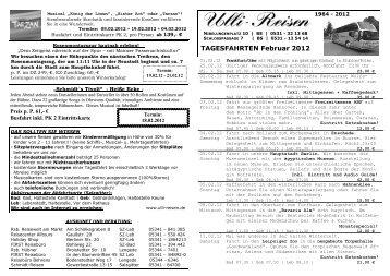 Tagesfahrten Februar SZ 2012 NEU - Ulli-Reisen