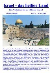Israel - das heilige Land - Ulli-Reisen