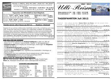 Tagesfahrten Juli 2012 BS - Ulli-Reisen