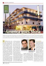 America goes Styria - Harry's Home Hotels