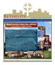 BETHELITE - Bethel Lutheran Church
