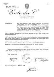 Sezioni riunite in sede di controllo - Corte dei Conti