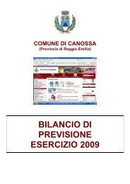 BILANCIO 2009 - Comune di Canossa
