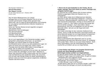 zweiter Advent, 6.Dezember 1998 - ulmer-kantorei.de