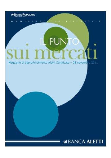 Magazine di approfondimento Aletti Certificate – 28 ... - Banca Aletti