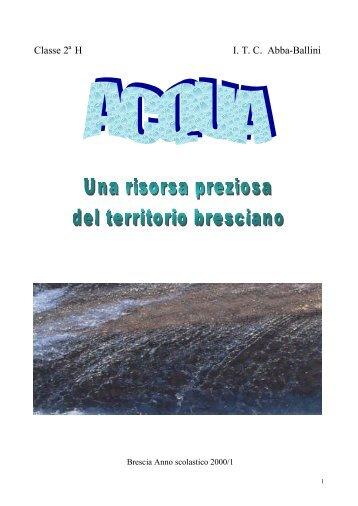 MITICI SPRUZZI Leggende sull'acqua lette e ... - Ambiente Brescia
