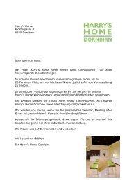 Harry's Home Klostergasse 8 6850 Dornbirn ... - Harry's Home Hotels