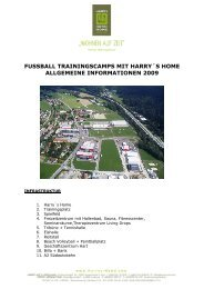 Trainingscamps 2009 Fussball Angebot - Harry's Home Hotels