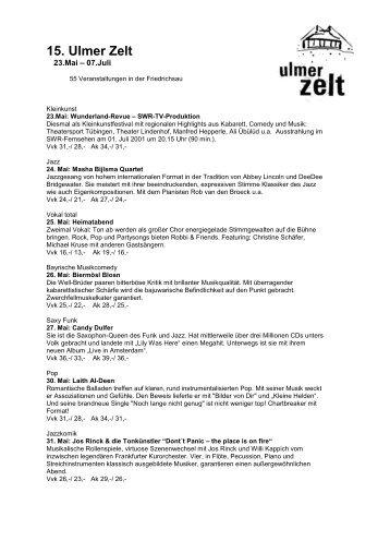 30. Mai: Laith Al-Deen - Ulmer Zelt