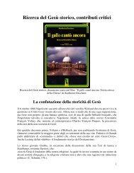 Ricerca del Gesù storico, contributi critici - Martufi, Gabriele - Altervista