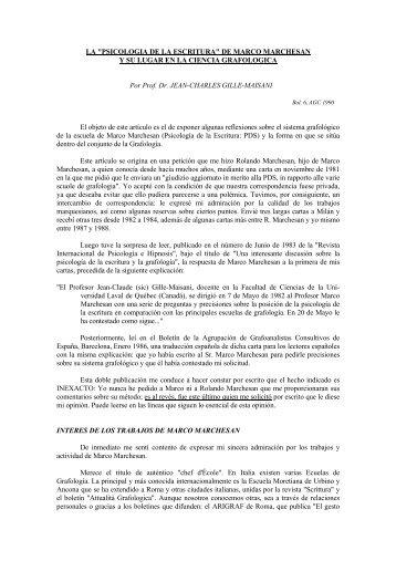 DE MARCO MARCHESAN Y SU LUGAR EN LA ... - Grafoanalisis.com