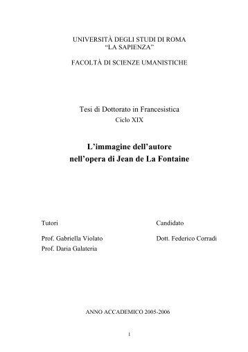 L'immagine dell'autore nell'opera di La Fontaine - Padis