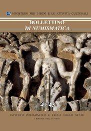 Bollettino di Numismatica n. 40-43 - Portale Numismatico dello Stato