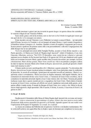 Maria, Regina degli Apostoli - Pallotti-Sac.Org