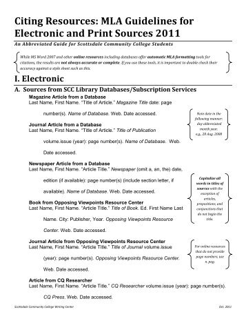 mla citation guidelines north lake college