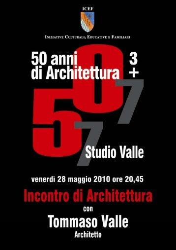 Incontro di architettura con Tommaso Valle - Studio Valle