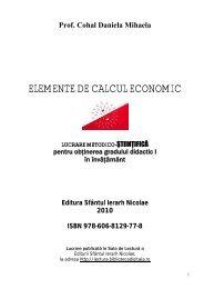 ELEMENTE DE CALCUL ECONOMIC - Sala de Lectură