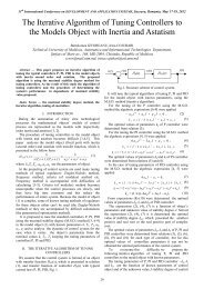 The Iterative Algorithm of Tuning Controllers to the ... - DAS 2012