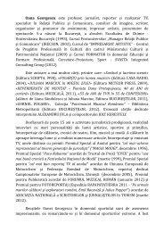 Biografie Oana Georgescu - Biblioteca Metropolitana Bucuresti