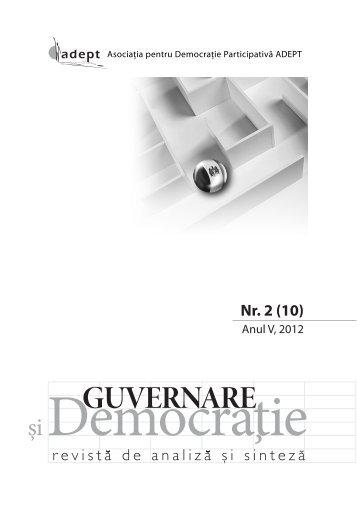Guvernare şi Democraţie nr. 2(10) - ADEPT