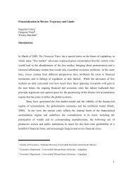 1 Financialization in Mexico - Centro de Estudio Sobre Desarrollo ...