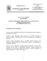 R O M A N I A CONSILIUL CONCURENTEI - Reteaua Nationala de ...