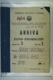 FOND INFORMATIV - Consiliul Naţional pentru Studierea Arhivelor ...