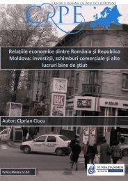 Relaţiile economice dintre România şi Republica Moldova: investiţii ...