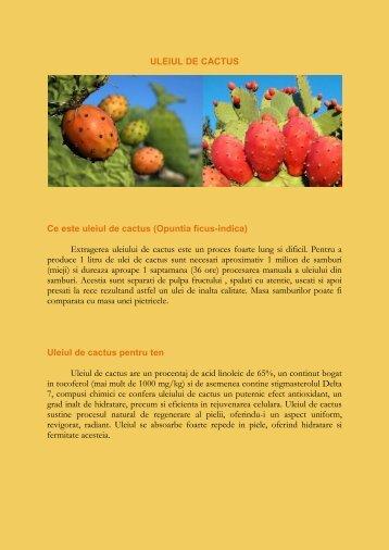 ULEIUL DE CACTUS Ce este uleiul de cactus ... - Doctor Kasem